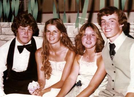 Glena and Bunny at the Logan High Prom, looking hot in 1977